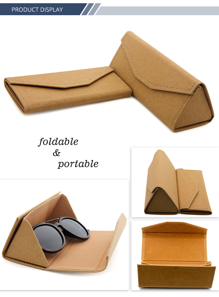 Sunglasses Case Print Your Logo Craft Paper Box Sunglasses Folded Cheap Glasses Packing Bag