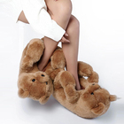 Slippers High Quality Plush Slippers Plush Animal Indoor Fluffy Winter Slippers Teddy Bear Slippers