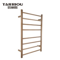 TARRIOU 8 Bar Towel Drying Ladder Rack Heated Towel Rail Gold For Sale