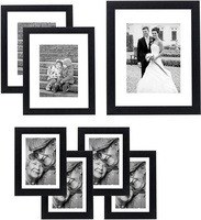 high quality 11*14 black A4 custom MDF wood Multi Set collage Wall Tabletop poster display picture photo frame for home decor
