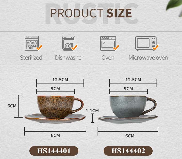 product-Two Eight-Rustic Two Eight Cup And Saucers, 2020 New ProductCoffee Cups And Saucers, High Te