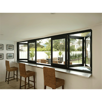 cheap prices residential aluminum accordion folding windows