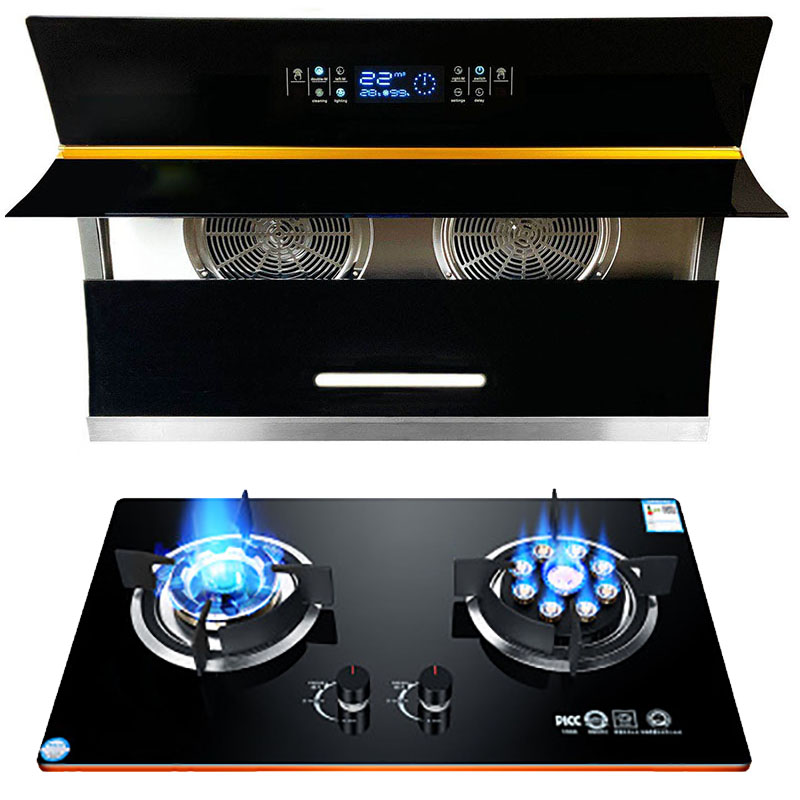 Super strong suction international version side range hood with CE certification and double motors kitchen chimney
