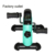 Mini exercise bike with smooth pedal system for home use