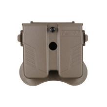 """Amomax Тактический Универсальный двойной мешочек для журналов 9 мм 40 """"или 45"""" калибр журнал-Тан (стандарт только с поясной пластиной)(Китай)"""
