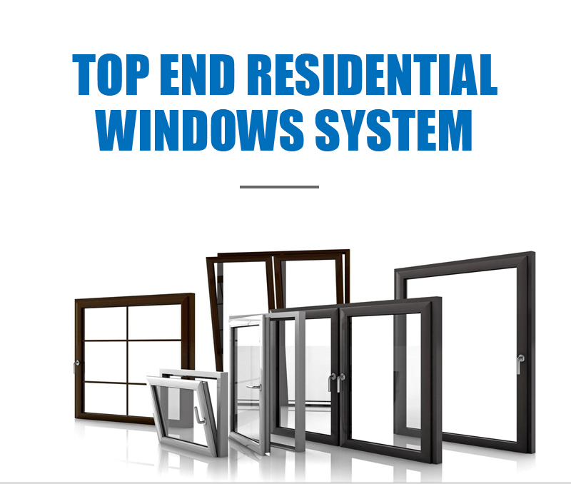 Double glass wind load resistance aluminium awning large glass windows for sale