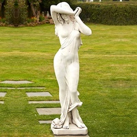 Manufactured Decorative Marble Large Female Garden Statues