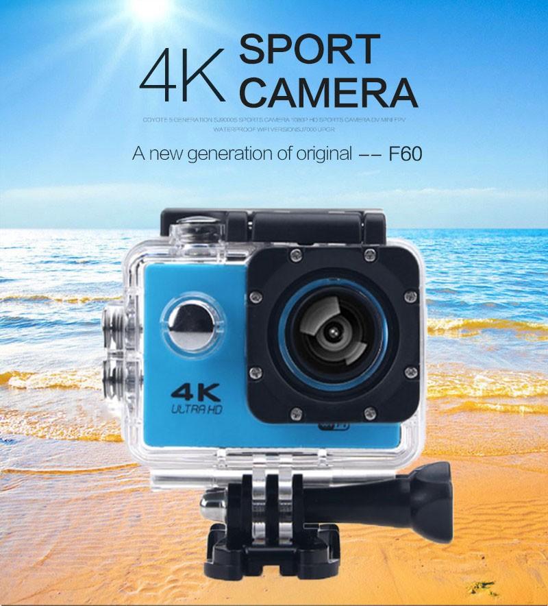 Sports Camera 4K Wifi Action Camera 16MP 170D Sport DV Go Waterproof Pro Extreme Sports Video Bike Helmet Car Cam DVR