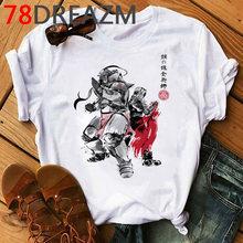 Футболка аниме «Стальной Алхимик», Мужская футболка Kawaii Harajuku, забавные мультяшные футболки с графическими принтами для мужчин, мужская ули...(Китай)