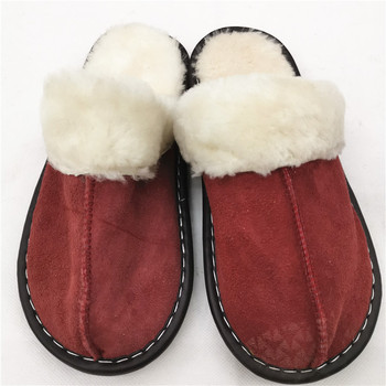 Factory Direct Wholesale wool felt slippers and shoe/boot wool felt insoles winter cotton slippers woman fur design fashion wint