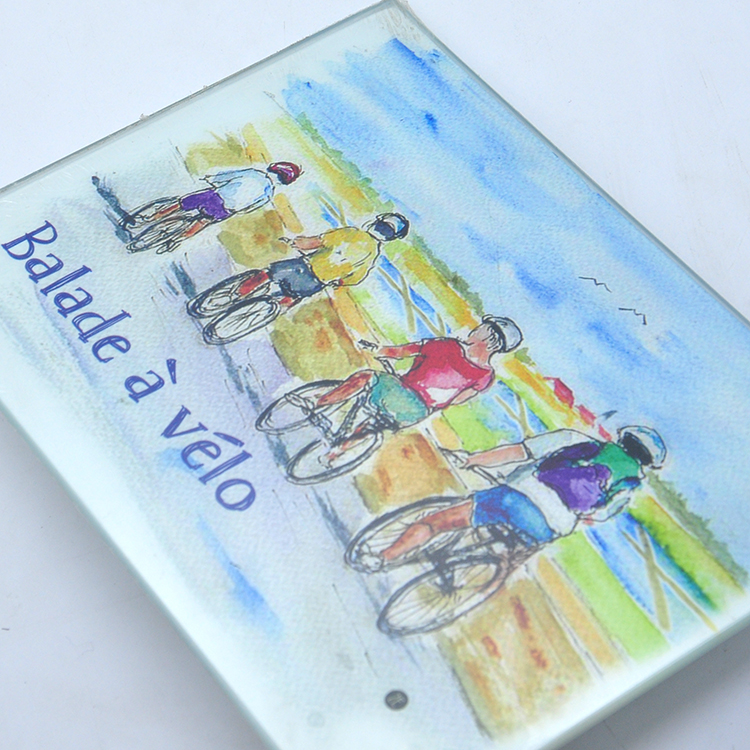 personalised family name chopping board floating glass