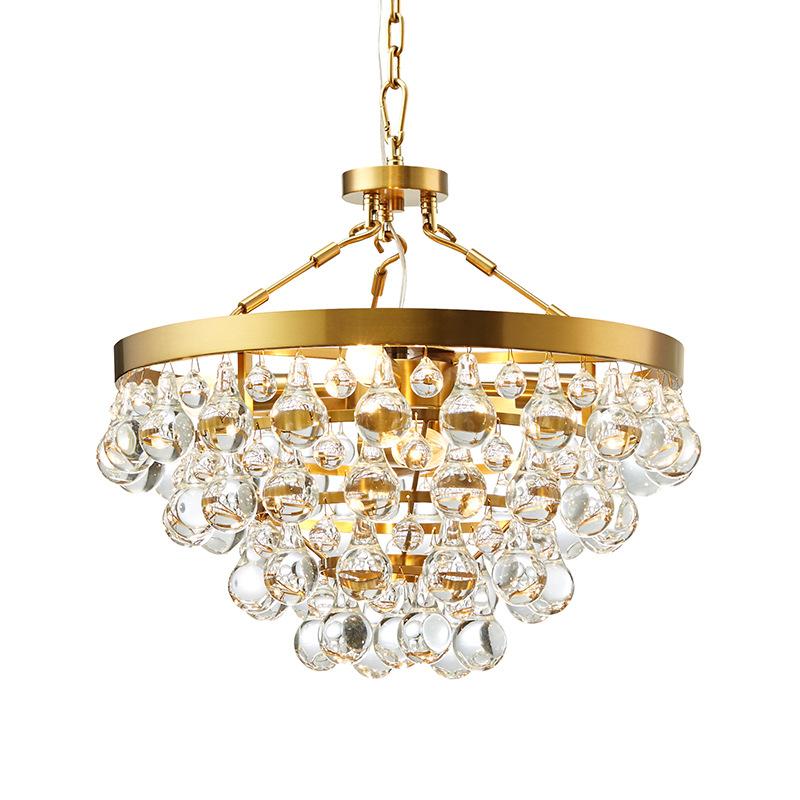 Moderne Luxe Crystal Verlichting Kroonluchter Gouden Afwerking Led Moderne Kroonluchter