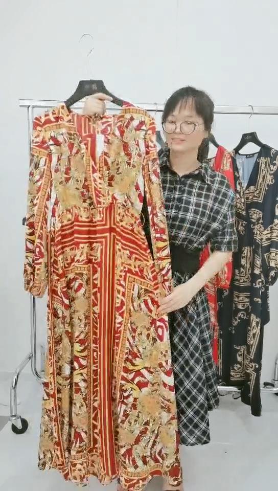 2021 Label Pribadi Shein OEM/ODM Pakaian Fashion Gaun Panjang Musim Panas Wanita Lengan Panjang Gaun Maxi Ukuran Plus Kasual
