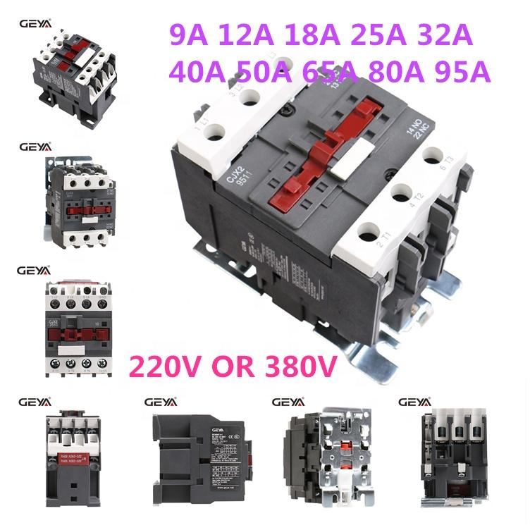 GEYA CJX2-6511 LC1D-6511 Magnetic Contactor Price Overload Contactor 65A 24V 110V 220V 380V 400V 440V