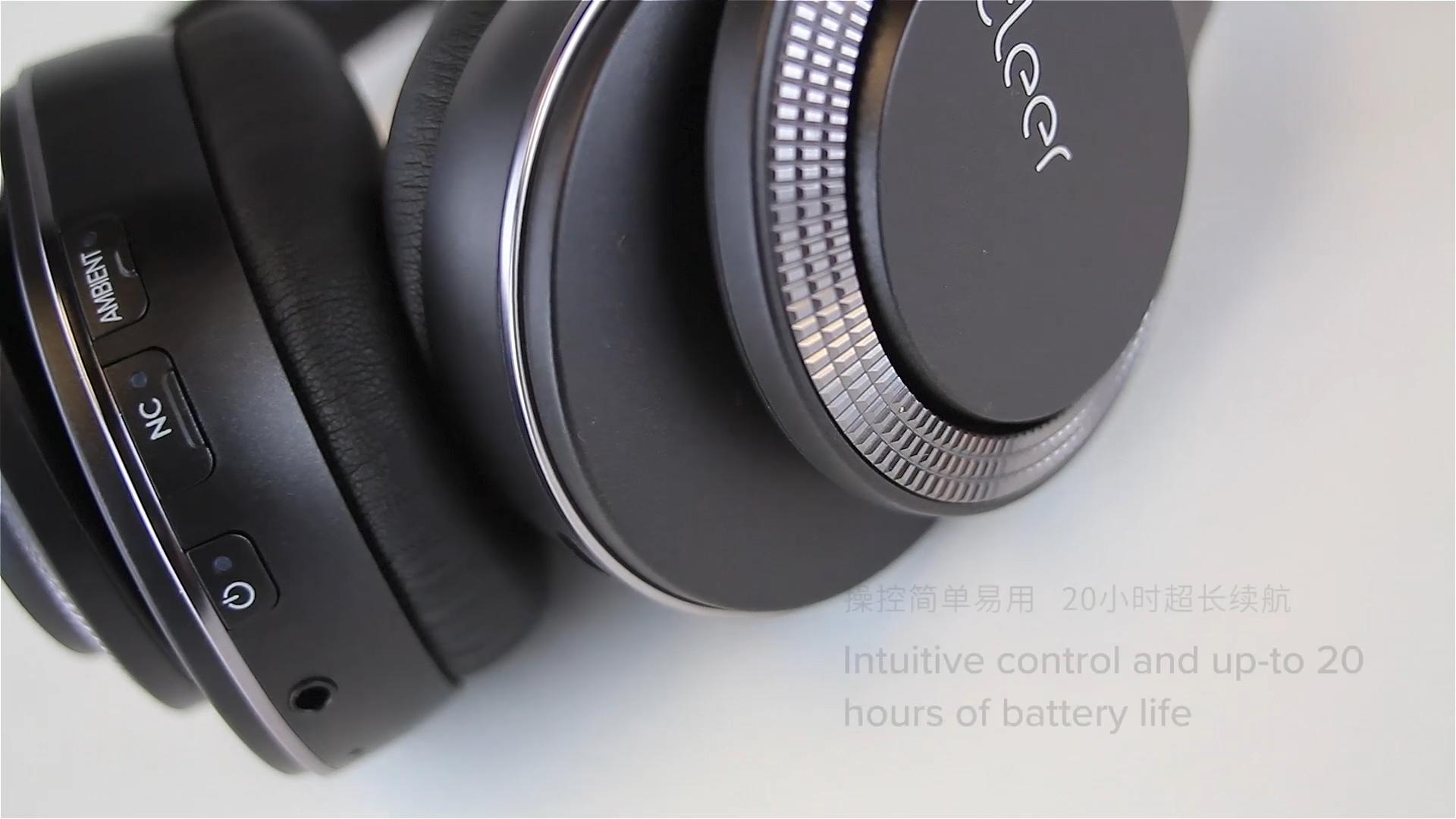 OEM-FLOW CSR8675 Wireless Bluetooth Hybrid Active Noise Cancelling Headphones Wireless Over Ear Bluetooth Headphones