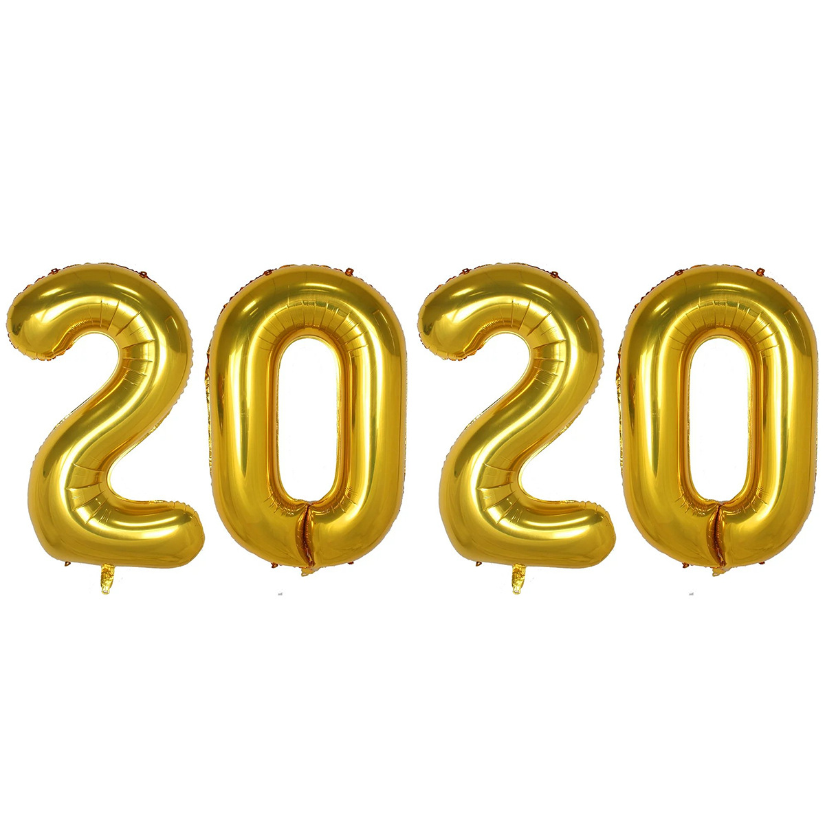 40 Inch Giant Number Foil Balloon 2020 Happy New Year Aluminum Balloon for Party Supplies Helium Floating 2020 Figure Globo Set