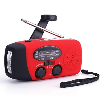 portable mini hand crank radio with Flashlight Survive waterproof emergency kit