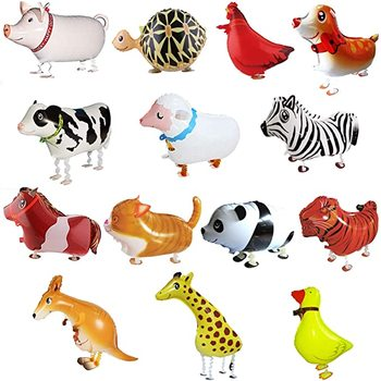 24 Pieces Walking Animal Balloons Pet Balloons Farm Animal Balloon Toys Air Walkers For Kids Gift Birthday Party Decor
