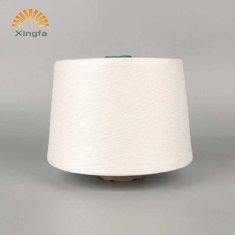 Good quality China supplier white 100% viscose spun yarn 30S/1