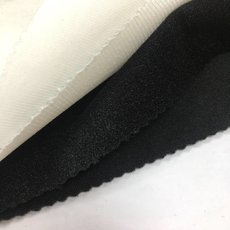 Factory Different Types Magic Loop Adhensive Terry Warp Brushed Knitting Tricot Loop Hook Velvet Magic Sticky Cloth Fabric