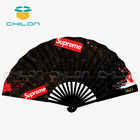 Hand Fan Printed Hand Fan Promotional Customized Printed Foldable Polyester Fabric Hand Fan