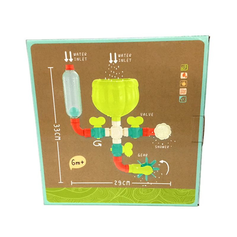 Bathroom Pipe Water Game Baby Bath Toy For Shower