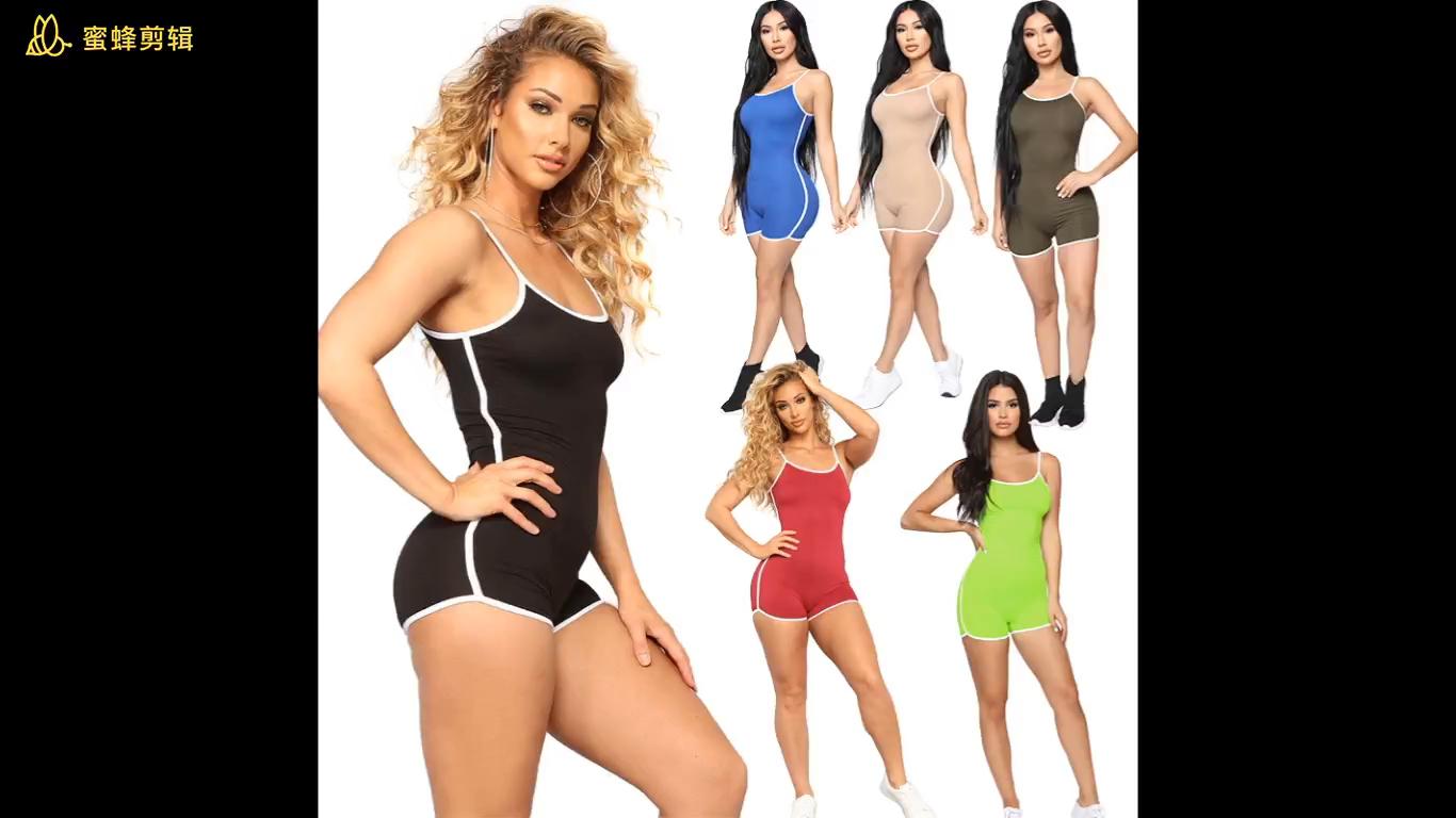 2020 New Sexy Frauen ärmellose Stram pler Jumps uit Bodysuit