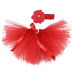 Newborn Baby Girls Birthday Layered Tulle Tutu Skirt Flower Headwear Outfits