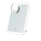 Touch Screen Light switch Adjustable Dual Power Supply 180 Rotation Vanity Cosmetic Mirror tabletop