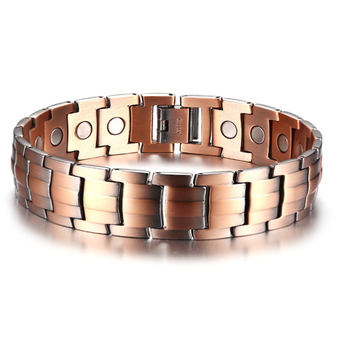 Rose Gold <strong>Magnetic</strong> Tourmaline <strong>Bracelet</strong> Arthritis Relief the Pain Health <strong>Energy</strong> Healing <strong>Bracelet</strong> for Men Balance Band
