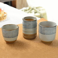 Restaurant Ceramic Sake Cup, Hand Painted Master Cup, Office Drinkware Teaware/