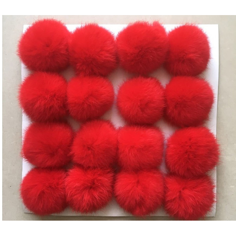 Hot Sale Colorful Real <strong>Fur</strong> Pom Poms Big Soft <strong>Fox</strong> <strong>Fur</strong> <strong>Ball</strong> Pendant <strong>Keychain</strong>