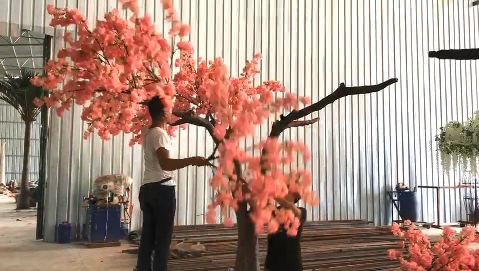 Heißer Verkauf Künstliche Indoor Outdoor Fiberglas Gefälschte Kirschblüte Baum Für Hochzeit Dekoration
