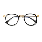 New fashion Custom hot sale cat eye metal blue light blocking spectacle optical frame glasses for women