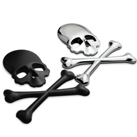 Metal Skull Halloween Car Car Personality Adhesive Sticker