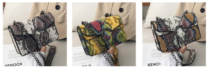 Female Vintage Serpentine Crossbody Bags For Women 2020 Sling Shoulder Messenger Bag Lady Famous Brand Luxury Handbags Designer