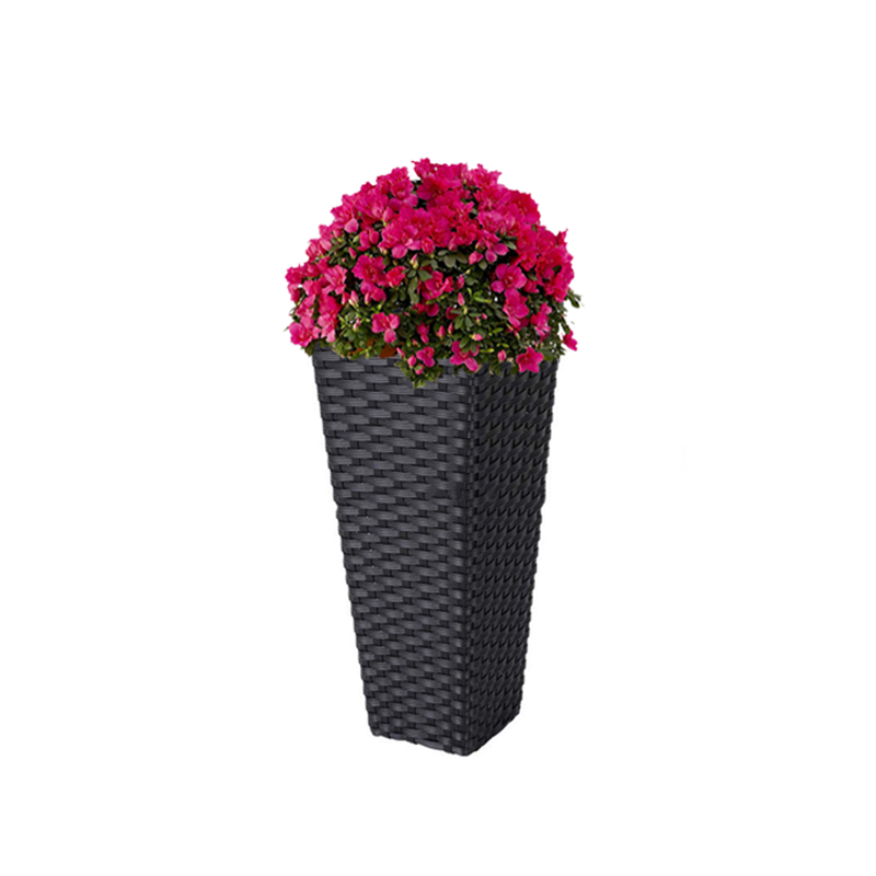 Decoration rattan woven stand metal bucket flower pot single large floor vases