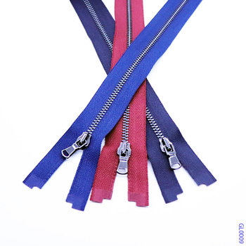 3# Y metal strong tape widely used custom zipper pulls blue red