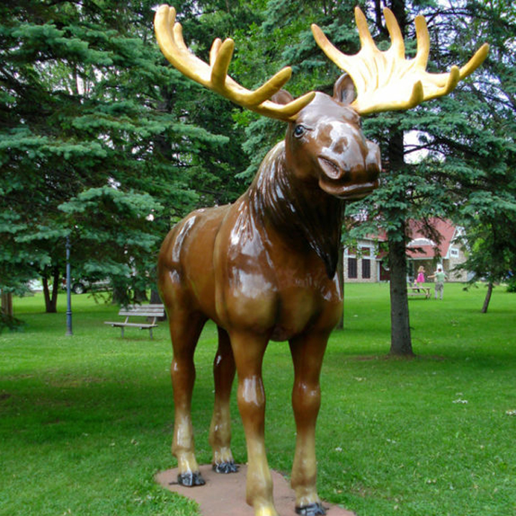 Factory Direct High Quality Life size moose statue statuary