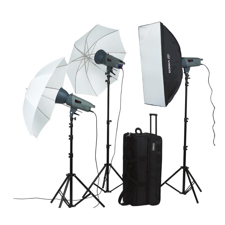 Lighting Kit With Umbrella Softbox
