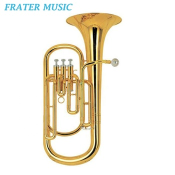 Gold lacquer Cupronickel piston Bb key Baritone horn (JBR-210)