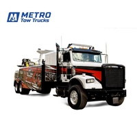 Customized Color and Aluminum Wrecker Body Towing Truck, 35 ton Metro Heavy Duty Wrecker Tow Truck