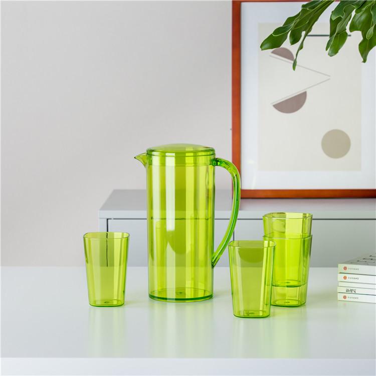 Wholesale drinkware plastic multi-colored water bottle jug custom logo water jugs with cup