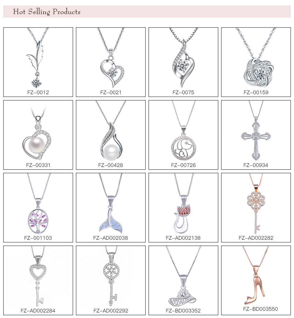 unfadable women luxury zircon stone  925 silver diamond pendants 925 sterling silver pendant and charms gold