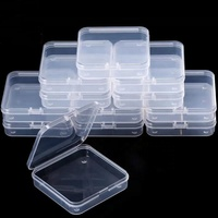 Wholesale Square Clear Foldable Hinged Plastic PP Storage Box Jewelry Packaging