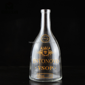 pyramid type 1liter 1000ml 32oz 1L glass vsop bottle brandy wine glass bottle with cork
