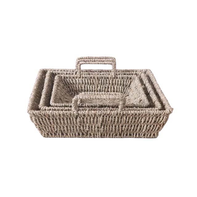 Natural handwoven square sea grass <strong>basket</strong> shower gel <strong>storage</strong> fruit candy gift presents <strong>bathroom</strong> <strong>storage</strong> <strong>basket</strong>