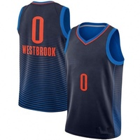 0 Russell Westbrook Sublimation Embroidery Logos 2019 top quality basketball jersey set