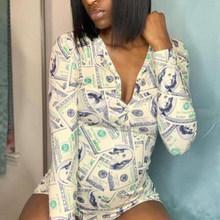 Эластичные сексуальные пижамы для взрослых женщин, плюс размер, боди с пуговицами, трико, короткие пижамы, комбинезон, комбинезоны, вечерние(Китай)