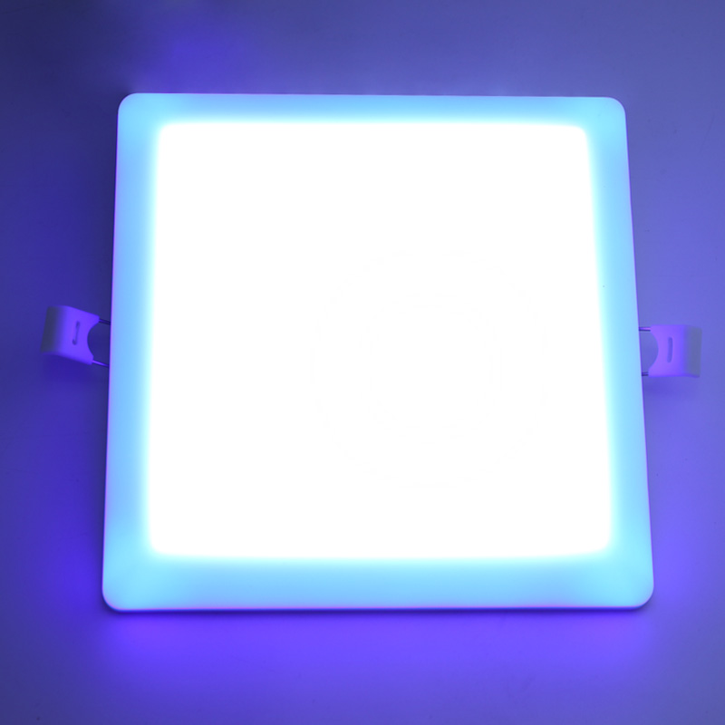 surface mount recessed indoor led down light 36w led frameless panel lighting double color